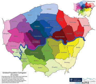 london cartogram